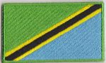 Tanzania Embroidered Flag Patch, style 04.